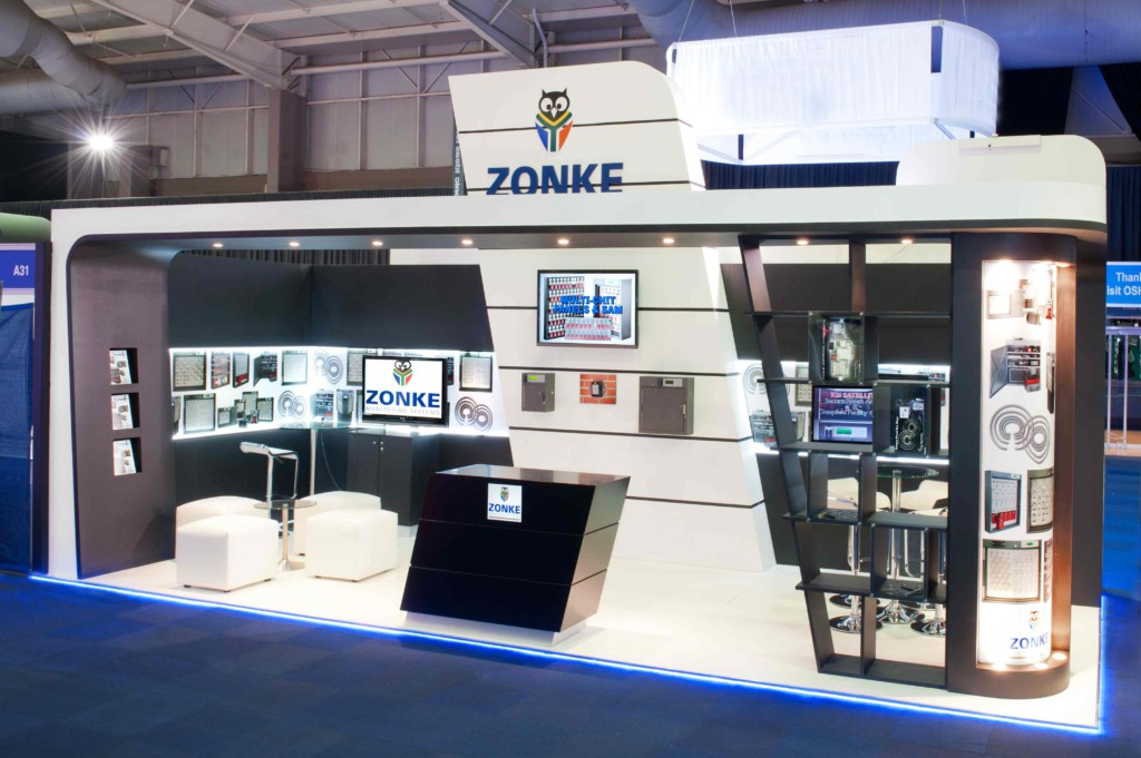 Zonke Exhibition Stand for IFSEC 2014,built by Innovation Factory