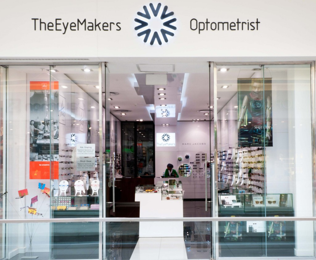 Shop fitting The Eye Makers