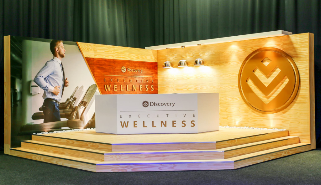Discovery Day Executive Wellness Stand,built by Innovation Factory